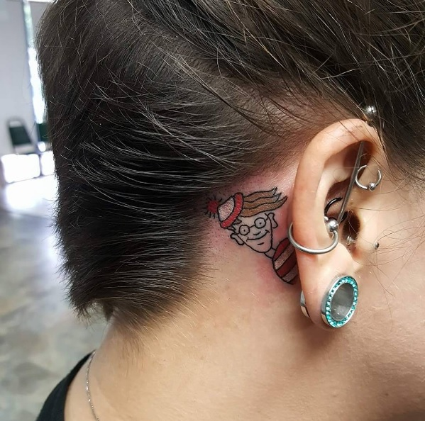 11-electricinktattoostudio-wheres-waldo-ear-tattoo