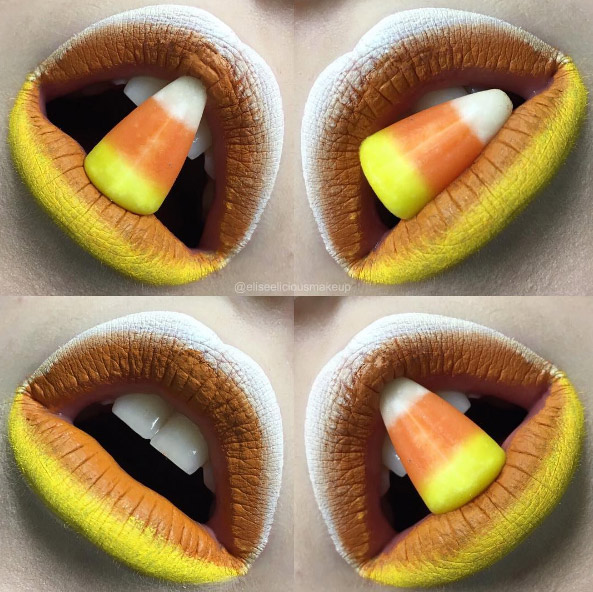 eliseeliciousmakeup-yellow-white-orange-candy-corn-halloween-lip-art