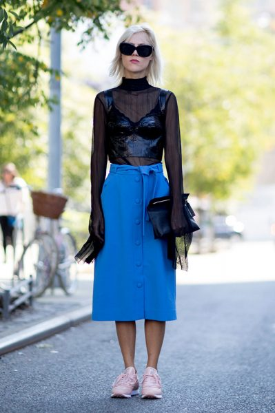01-sheer-black-lace-top-bustier-blue-midi-skirt-street-style