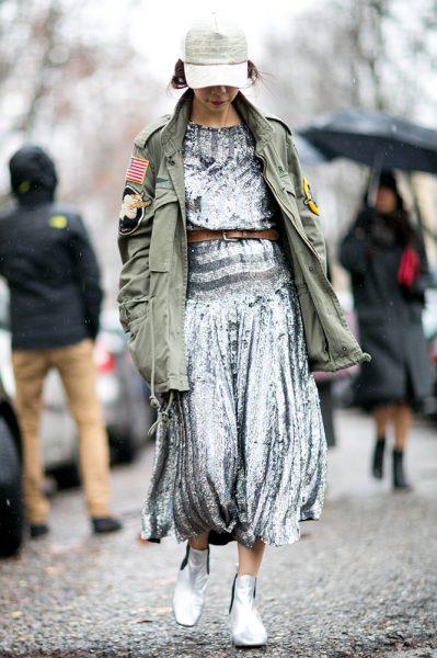 06-khaki-jacket-silver-sequin-separates-street-style
