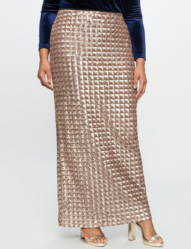 eloquii-checkered-sequin-maxi-skirt