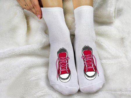 женский носок с принтом