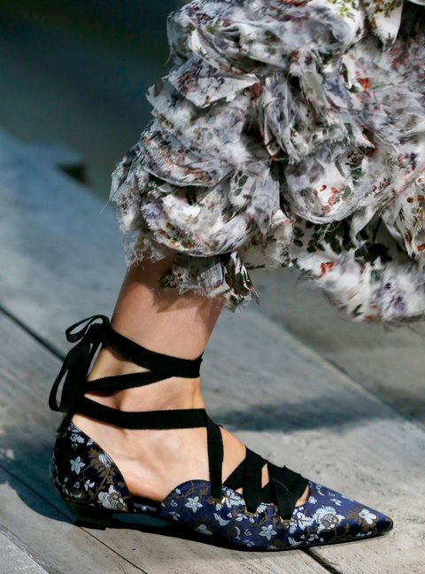 LONDON, UK - SEPTEMBER 19: A Shoe detail at the Erdem show during London Fashion Week Spring/Summer collections 2017 on September 19, 2016 in London, United Kingdom. (Photo by Estrop/Getty Images)