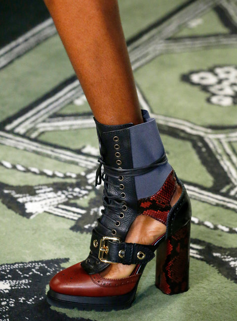 LONDON, UK - SEPTEMBER 19: A Shoe detail at the Burberry show during London Fashion Week Spring/Summer collections 2017 on September 19, 2016 in London, United Kingdom. (Photo by Estrop/Getty Images)