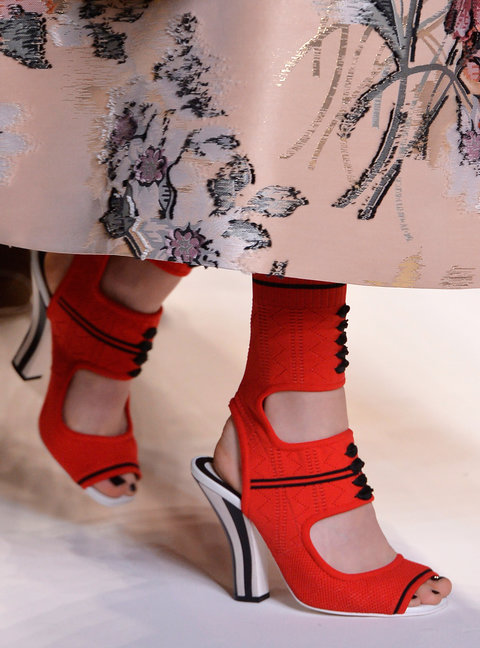 MILAN, ITALY - SEPTEMBER 22:  Accessories and fabric detail on the runway at the Fendi Spring Summer 2017 fashion show during Milan Fashion Week on September 22, 2016 in Milan, Italy.  (Photo by Catwalking/Getty Images)