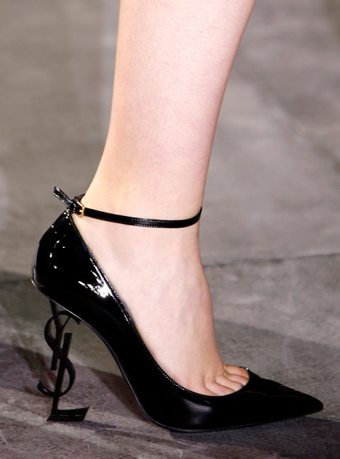 PARIS, FRANCE - SEPTEMBER 27: A Shoe detail at the Saint Lauren show as part of the Paris Fashion Week Womenswear Spring/Summer 2017  on September 27, 2016 in Paris, France. (Photo by Estrop/Getty Images)
