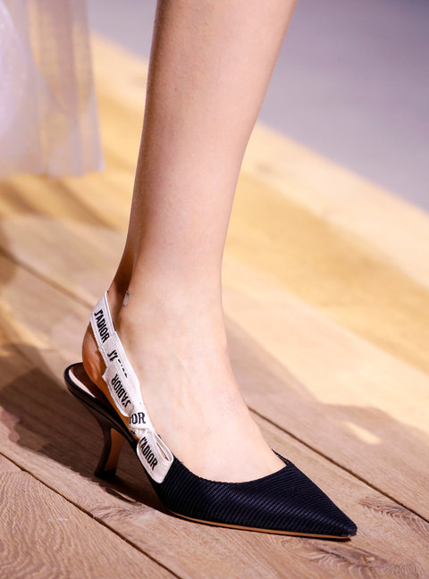 PARIS, FRANCE - SEPTEMBER 30: A Shoe detail at the Christian Dior show as part of the Paris Fashion Week Womenswear Spring/Summer 2017  on September 30, 2016 in Paris, France. (Photo by Estrop/Getty Images)