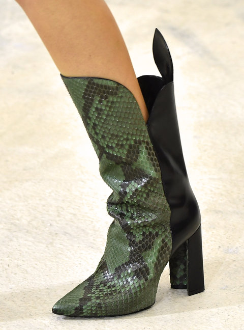PARIS, FRANCE - OCTOBER 05:  A model, shoe detail, walks the runway during the Louis Vuitton show as part of the Paris Fashion Week Womenswear Spring/Summer 2017  on October 5, 2016 in Paris, France.  (Photo by Pascal Le Segretain/Getty Images)