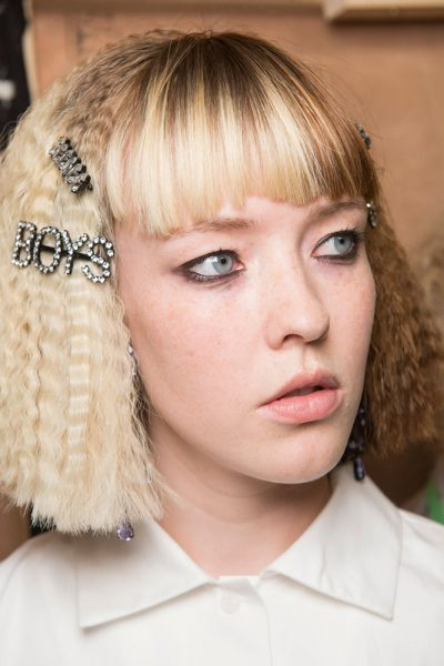 ashley-williams-spring-2017-double-barrettes-crimped-hair