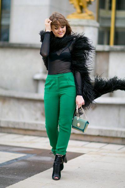 03-sheer-top-furry-jacket-green-pants-street-style