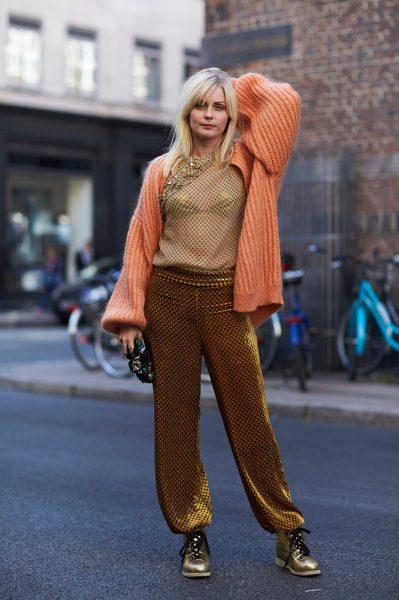 04-orange-cardigan-sheer-top-bra-bronze-pants-street-style