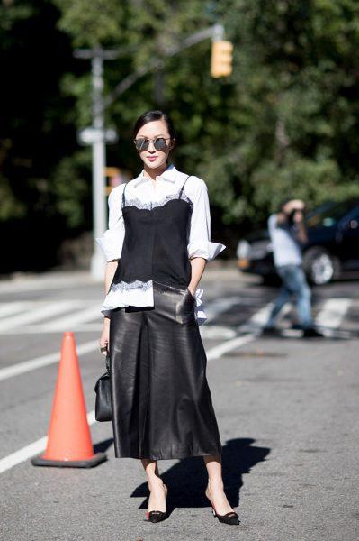 07-black-cami-white-shirt-black-skirt-street-style